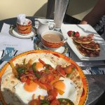 Eggs Rancheros and Pancakes by the breakfast experts at Zest