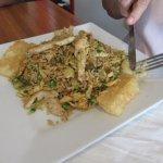 """Arroz Chaufa"" - Stir fried rice with chicken, eggs, scallions & fried cassava (yucca) $11.99"