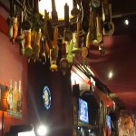 bar and beer tap chandelier