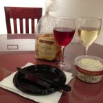 Wine, cheese and crackers at Chaddsford Winery