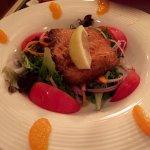 Maple glazed salmon salad