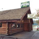 Beautiful log cabin structure houses a tasty restaurant.