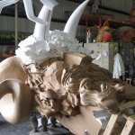 Prop under construction at Mardi Gras World (amazing to watch this happen).
