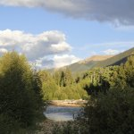 On the river behind Mt Elbert Lodge