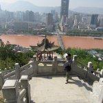 Looking down on Zhongshan Bridge