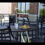 The outdoor patio is a great place to relax.