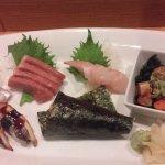 Superb sushi and sashimi includes aji, toro, madai, monkfish liver, anago and uni