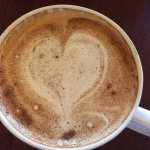 Chai tea with heart design.