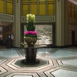 Beautiful flower arrangement in the foyer