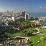 View from our suite at the Hilton Tel Aviv