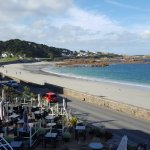 Al fresco dining at Cobo Bay Hotel