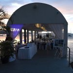 Wedding reception on the jetty