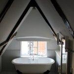 Our room fourteen has a spacious bathtu