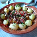Octopus with potatoes for two (18 euros pp person)