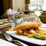 Why not try a classic, fish and chips at The Crown Hotel restaurant