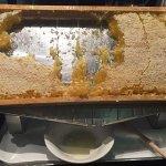 Pure Honey Comb at Breakfast