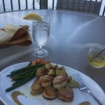 Scallops with mustard sauce