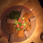 "Tasty and original Eritrean injera (kind of ""pan cake"")"