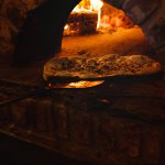 Our authentic wood fired oven
