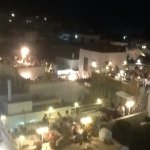 View of roof top restaurants in Lindos