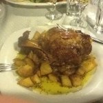 Slow roast pork shank in mustard and honey. Deeeeeelicious.....!