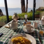 Spectacular breakfast with the view.