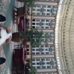 Enjoying the atrium