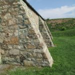 Side of original powder house at Fort George