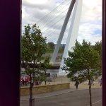 Millennium bridge seen from room