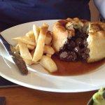 Desperate dan pie full of meat - veg at side included
