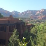 Beautiful red rock views from the large terrace