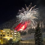 New Year's Fireworks at the Edelweiss