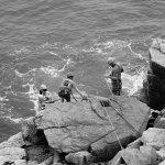 Climbers at the beach