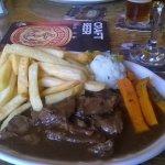 Steak with stilton