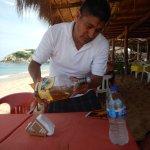 Shots on the house LaLa Restaurant & Bar, Playa San Agustin