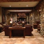 "Nice Lobby! Awesome fireplace for lounging, reading or just ""taking a moment""!"