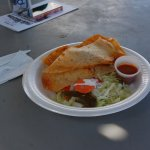 Mouth-watering chicken quesadillo