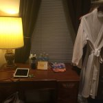 Writing Desk - nice robes for the bath.
