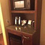 Keurig coffee maker, microwave & frig