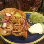 Chicken fajita taco salad
