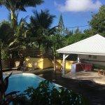 vue sur la piscine de Tival