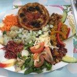Swiss Salad and Home Made Flan
