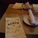 menu and table servie.