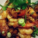 Seafood stir-fried in Tom Yum Paste