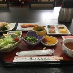 Japanese style breakfast. Very delicious!