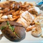 Stuffed Sole, Shrimp with Poutine