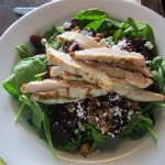 Spinach and Beet Salad with Chicken
