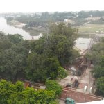 View from the 7th floor room, over looking River Gomti