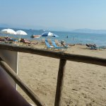 Beach behind konstantina apartments