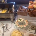Breakfast Buffet - look at the care taken to prepare the hard boiled eggs!